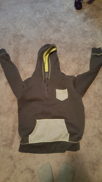 sweater jacket grey cotton hoodie