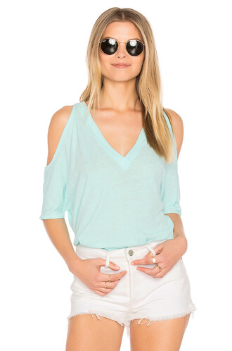 oversized cold turquoise top