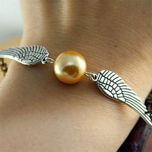 [grxjy5120198]Harry Potter Deathly Hallows Wings Beaded Charm Bracelet