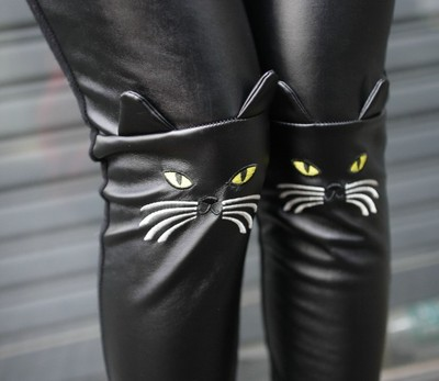 Pu leather cat face legging · mancphoebe · online store powered by storenvy