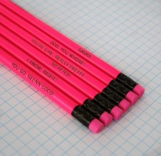 jewels pink pencils sassy tumblr