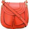 Chloé hudson shoulder bag, women's, yellow/orange, calf suede/calf leather