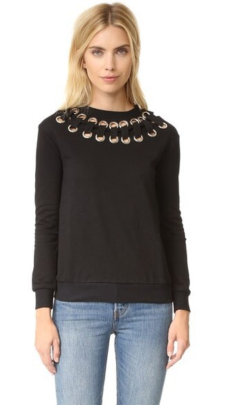 shirt lace black top