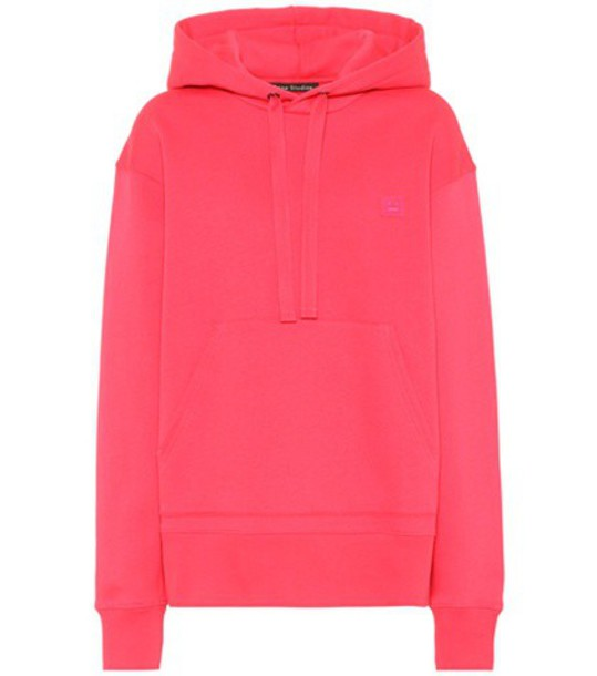 hoodie oversized cotton pink sweater