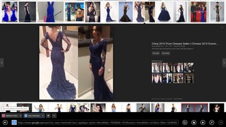 dress navy lace dress vneck dress prom dress dreamdress mermaid prom dress long-sleeves