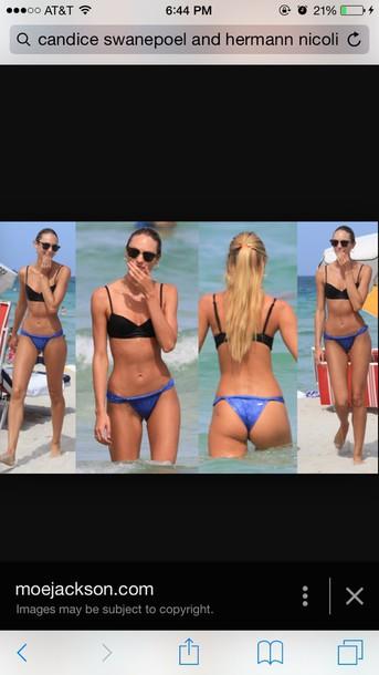 swimwear candice swanepoel bikini top bikini bottoms black bikini