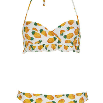 White Pineapple Bikini - Topshop on Wanelo