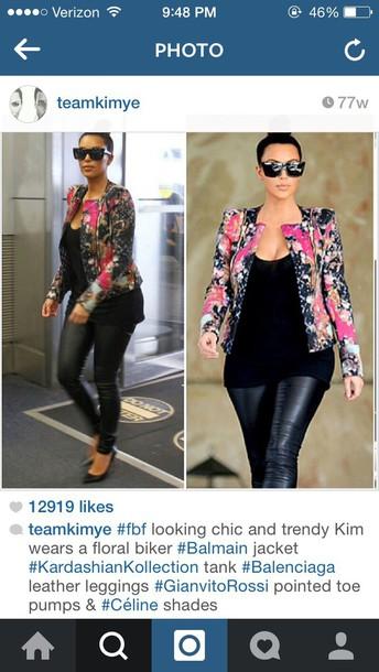 jacket kim kardashian floral
