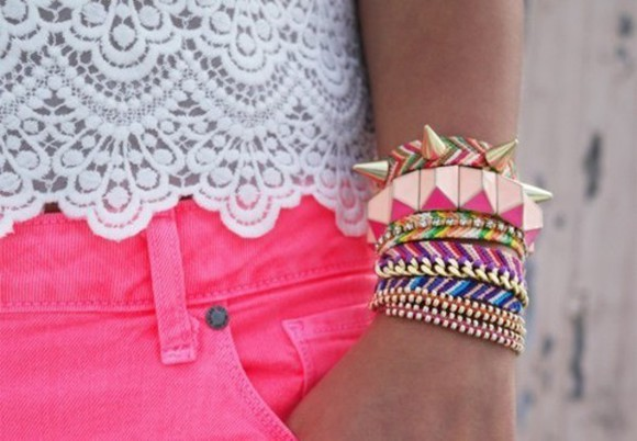 spikes jewels bracelets accesories