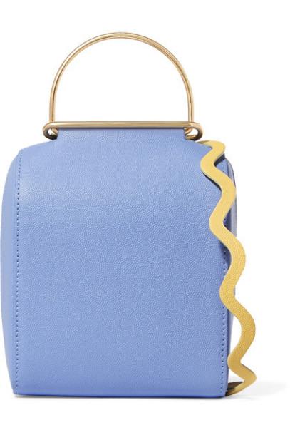 bag shoulder bag leather blue