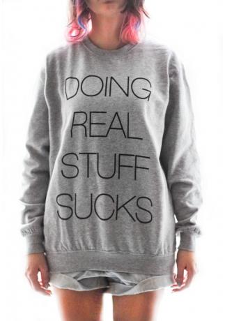 Drss sweatshirt black letters
