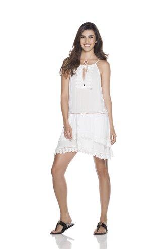 dress boho dress white dress cotton dress