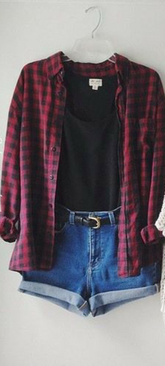 red shirt black shirt plaid plaid shirt plaid cropped top cropped top country
