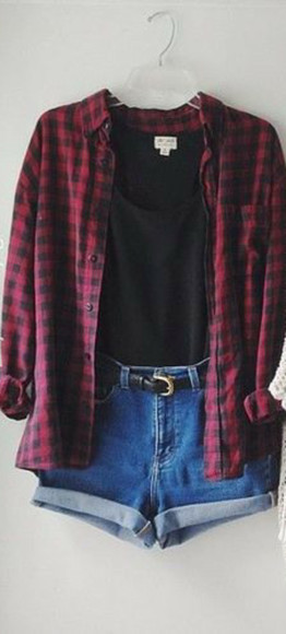 red shirt flannel black shirt flannel shirt plaid cropped top crop tops country