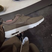 shoes,nike shoes,olive green,sneakers,trainers,nike,mocha,army green,nike air max thea,swag,green,nike running shoes,nike air,nike roshe run,nike sneakers,green sneakers,nude sneakers,low top sneakers