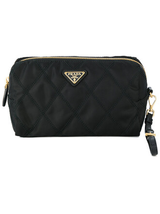 women quilted bag cotton black