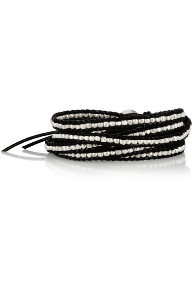 Chan Luu | Leather and silver five wrap bracelet | NET-A-PORTER.COM