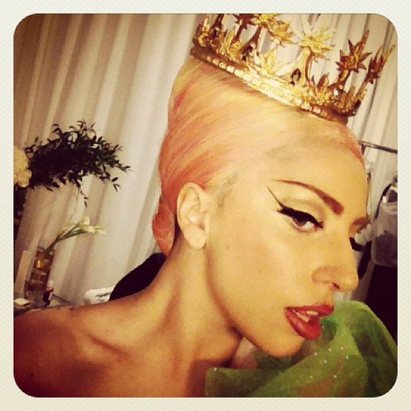 lady gaga gaga jewels weed crown tiara gold