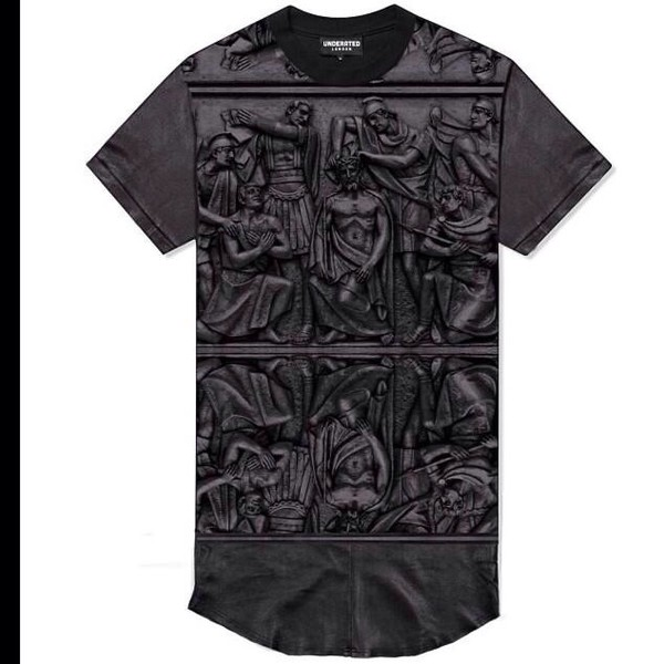 t-shirt black top gods