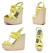 shoes,high heels,wedges,yellow,summer shoes,platform high heels,high heel sandals