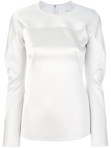 top women white satin