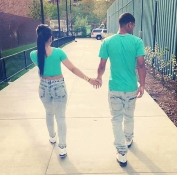 Top: couple, matching set, swag, cute, jordans - Wheretoget