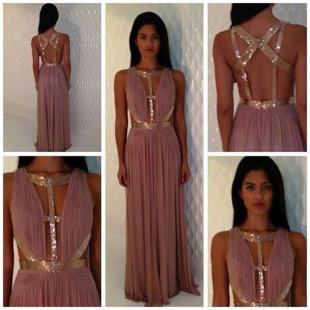 Dress: purple, gold, style, hot, indie, sparkle, party, prom dress ...