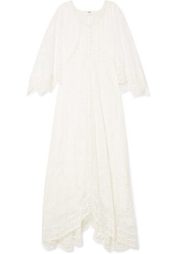 dress maxi dress maxi lace white cotton off-white
