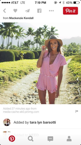 romper red stripe red and white stripes