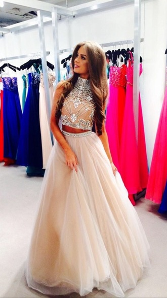 sherri hill 2015 spring tulle skirt cropped top princess girly chic blogger top #classy #summer #white #girly