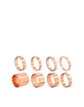 Asos pack of 8 smooth rings at asos