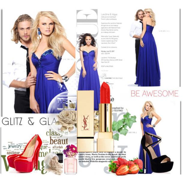 dress, 2014 sherri hill 21035 royal purple prom dresses, magazine ...