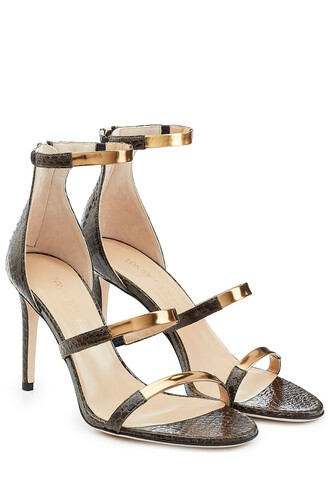 straps metallic sandals leather sandals leather green shoes