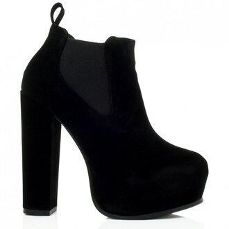 shoes ankle boots suede chelsea boots booties platform shoes heels high heels block heels block high heels black black shoes black platforms chunky suede boots suede shoes chunky sole chunky heels chunky boots chunky shoes