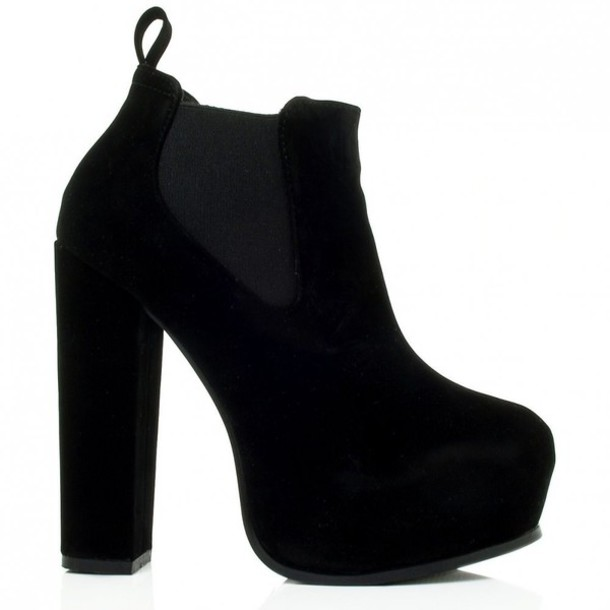 Chunky Sole Black Ankle Boots - Shop for Chunky Sole Black Ankle ...