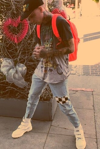 shirt streetwear streetstyle fashion menswear mens shirt mens pants mens style luxury blackbear singer celebrity fog fear of god jerry lorenzo pants