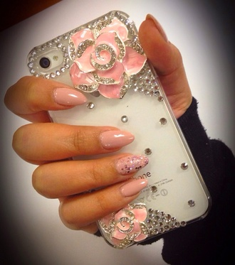 jewels iphone case iphone 5 case pinkiphonecase pink phone roses pink jewels