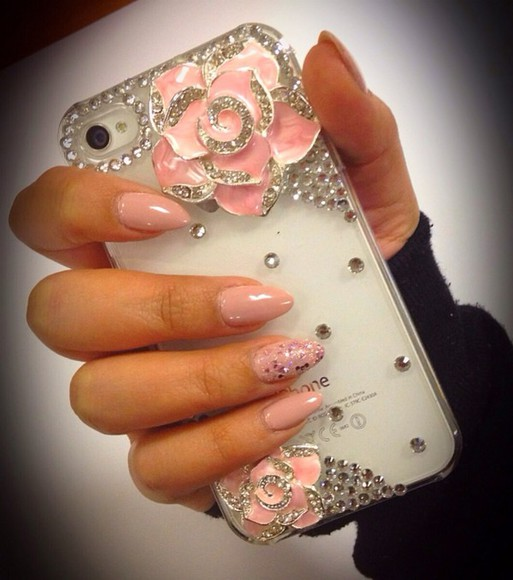 pink jewels jewels pink iphone case iphone 5 case pinkiphonecase phone roses