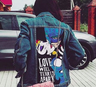 jacket denim jacket pop art batman wonder woman denim printed jacket instagram superheroes love quotes etsy