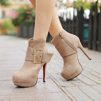 shoes boot sexy elegant zip