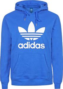 Trefoil hoodie blue white
