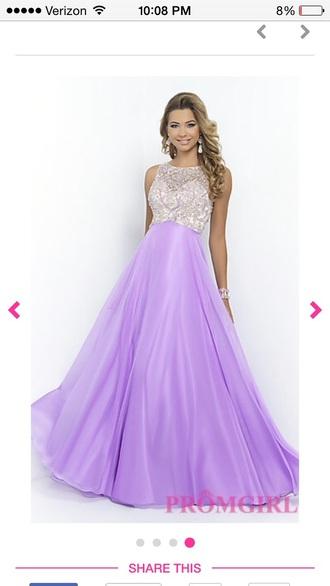 dress prom dress purple dress lavender long dress