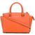Michael Kors logo plaque tote bag, Women's, Yellow/Orange, Leather