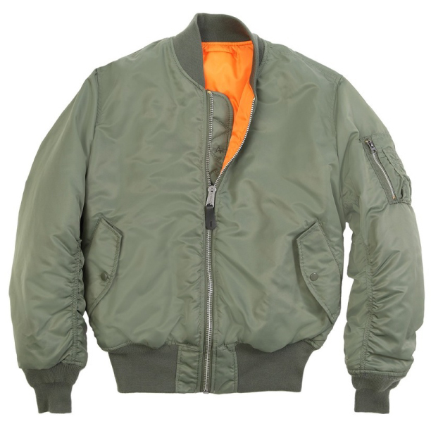 1 flight jacket sage green