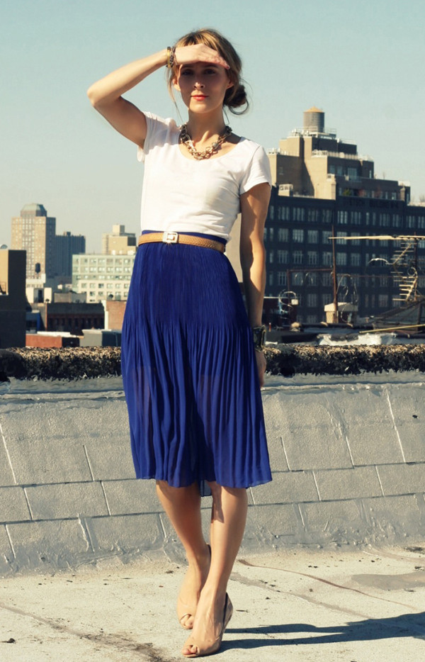 03e21ee16 Mid-Length Accordion-Pleat Skirt | Skirts | Shop American Apparel