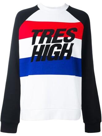 sweatshirt high white sweater