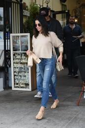 sweater,jenna dewan,jeans,denim,spring outfits,streetstyle