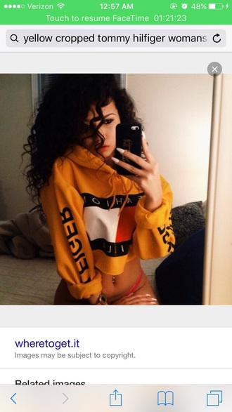sweater yellow tommy hilfiger tommy hilfiger tommy hilfiger crop top cropped sweater