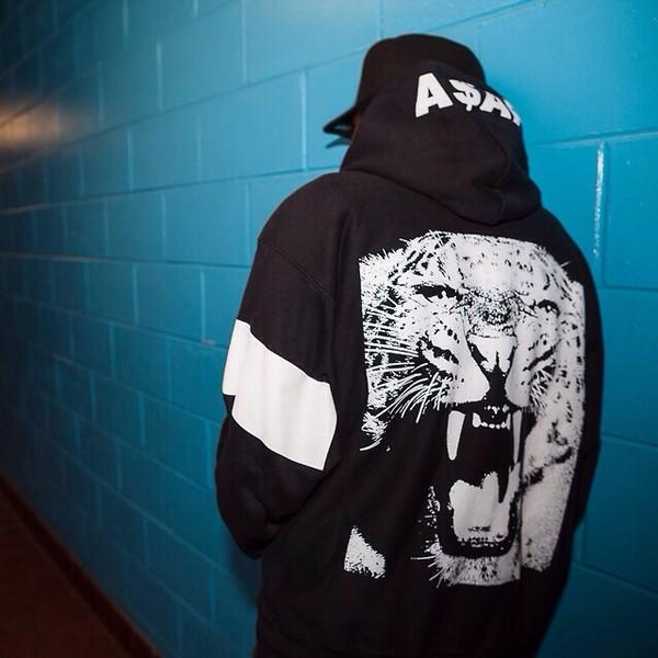 jacket ASAP Rocky tiger menswear mens sweater urban menswear