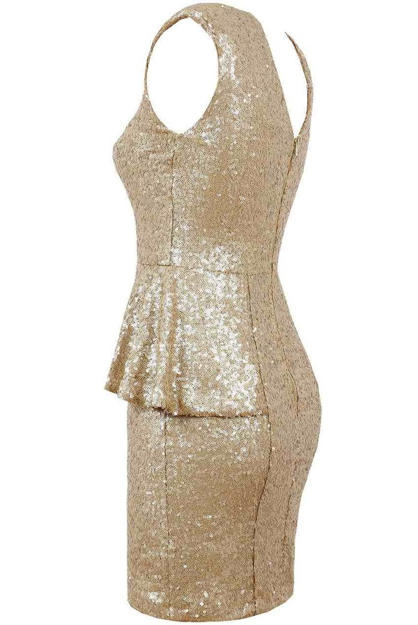 dress gold sequins boutique online sale essex purple rose sparkle glitter party sexy